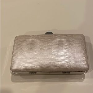 Leather evening clutch